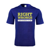 Performance Royal Heather Contender Tee-Right Wrongs