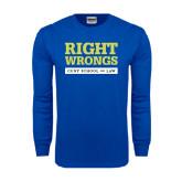 Royal Long Sleeve T Shirt-Right Wrongs
