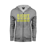 ENZA Ladies Grey Fleece Full Zip Hoodie-Right Wrongs