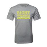 Grey T Shirt-Right Wrongs