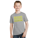 Youth Grey T-Shirt-Right Wrongs