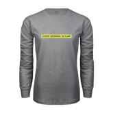 Grey Long Sleeve T Shirt-CUNY School of Law