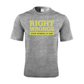 Performance Grey Heather Contender Tee-Right Wrongs