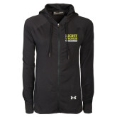 Ladies Under Armour Black Varsity Full Zip Hoodie-Right Wrongs