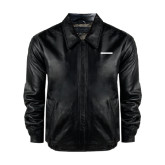 Black Leather Bomber Jacket-CUNY School of Law