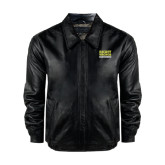 Black Leather Bomber Jacket-Right Wrongs