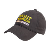 Charcoal Twill Unstructured Low Profile Hat-Right Wrongs