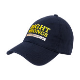 Navy Twill Unstructured Low Profile Hat-Right Wrongs