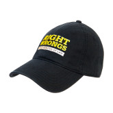Black Twill Unstructured Low Profile Hat-Right Wrongs