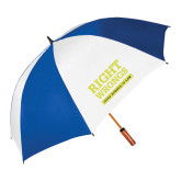 62 Inch Royal/White Umbrella-Right Wrongs