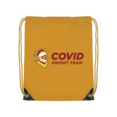 Gold Drawstring Backpack-Covid Knight Team