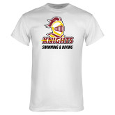 White T Shirt-Knights Swimming and Diving