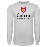 White Long Sleeve T Shirt-School of Business