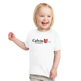 Toddler White T Shirt-University Logo 1876 Horizontal