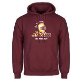 Maroon Fleece Hoodie-Knights with University