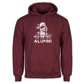 Maroon Fleece Hoodie-Alumni Knight Calvin