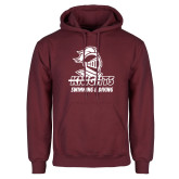 Maroon Fleece Hoodie-Knights Swimming and Diving