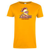 Ladies Gold T Shirt-Knights with University