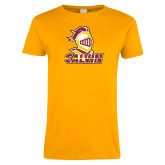 Ladies Gold T Shirt-Knight Calvin