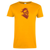 Ladies Gold T Shirt-Knight Head