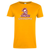 Ladies Gold T Shirt-Grandma Knight Calvin