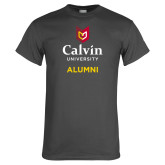 Charcoal T Shirt-Alumni University Logo Vertical