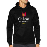 Adidas Black Team Issue Hoodie-University Logo 1876 Vertical