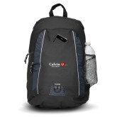 Impulse Black Backpack-University Logo 1876 Horizontal
