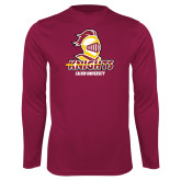 Performance Maroon Longsleeve Shirt-Knights with University