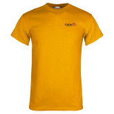 Gold T Shirt-University Logo 1876 Horizontal