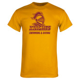 Gold T Shirt-Knights Swimming and Diving