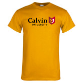 Gold T Shirt-University Logo Horizontal