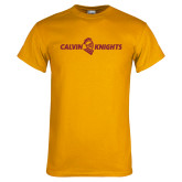 Gold T Shirt-Calvin Knights One Line