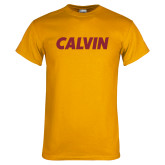 Gold T Shirt-Calvin Wordmark