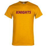 Gold T Shirt-Knights Wordmark