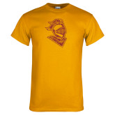 Gold T Shirt-Knight Head Distressed