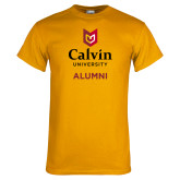 Gold T Shirt-Alumni University Logo Vertical