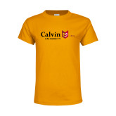 Youth Gold T Shirt-University Logo 1876 Horizontal