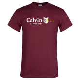 Maroon T Shirt-University Logo 1876 Horizontal