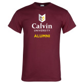 Maroon T Shirt-Alumni University Logo Vertical