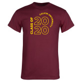 Maroon T Shirt-Class of 2020 Stacked