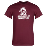 Maroon T Shirt-Knights Swimming and Diving