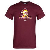 Maroon T Shirt-Golf Stacked