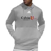 Adidas Grey Team Issue Hoodie-University Logo 1876 Horizontal