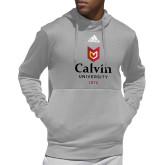 Adidas Grey Team Issue Hoodie-University Logo 1876 Vertical
