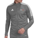 Adidas Grey Tiro 19 Training Jacket-University Logo 1876 Horizontal