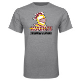 Grey T Shirt-Knights Swimming and Diving