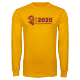 Gold Long Sleeve T Shirt-Class of 2020 Knight
