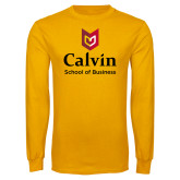 Gold Long Sleeve T Shirt-School of Business