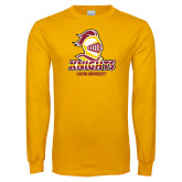 Gold Long Sleeve T Shirt-Knights with University